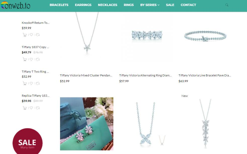 replica Tiffany Victoria jewelry sale price