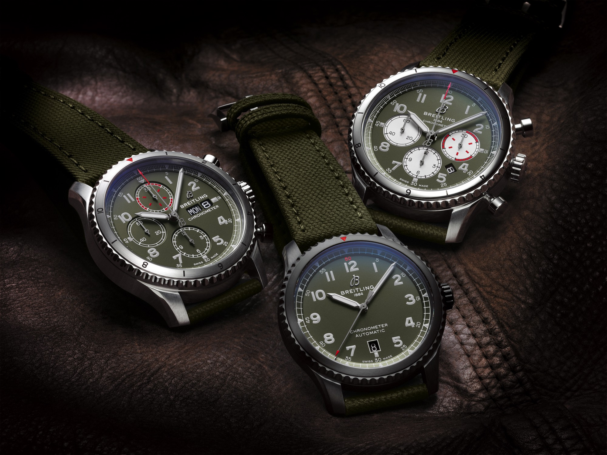 bc46cd60b4c Commemorating the aviation legend  Breitling launches three new Aviator 8  Curtis Warhawk watches